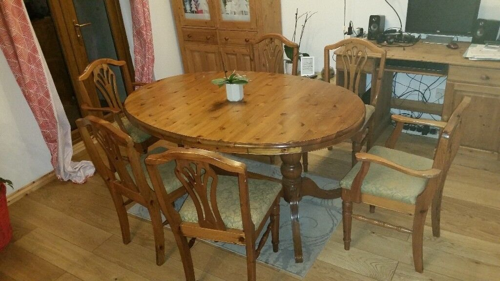 Ducal Pine Dining Table And Chairs