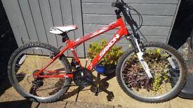 Boys bike 14 inch frame 24 inch wheel age range 9-12 years