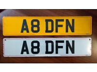 AUDI A8. LAND ROVER DEFENDER. PRIVATE REGISTRATION/CHERISHED NUMBER PLATE