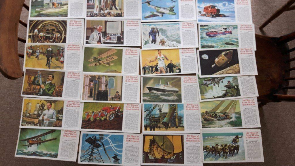 Typhoo Tea, 100 Years of Great British Achievements large cards. Complete setin Honiton, DevonGumtree - Typhoo Tea, 100 Years of Great British Achievements large cards. Complete set All excellent condition Two of no. 12 and 24 card No. 21 and 24 card printed on back £5 £4p&p