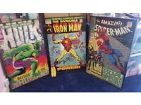 3 big Marvel superhero comic book posters in box frames. Perfect wall art for man cave or boy's room