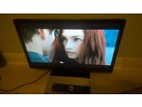 "Logik L24FED12 24"" Full HD 1080p LED TV With DVD Player Excellent Condition!"