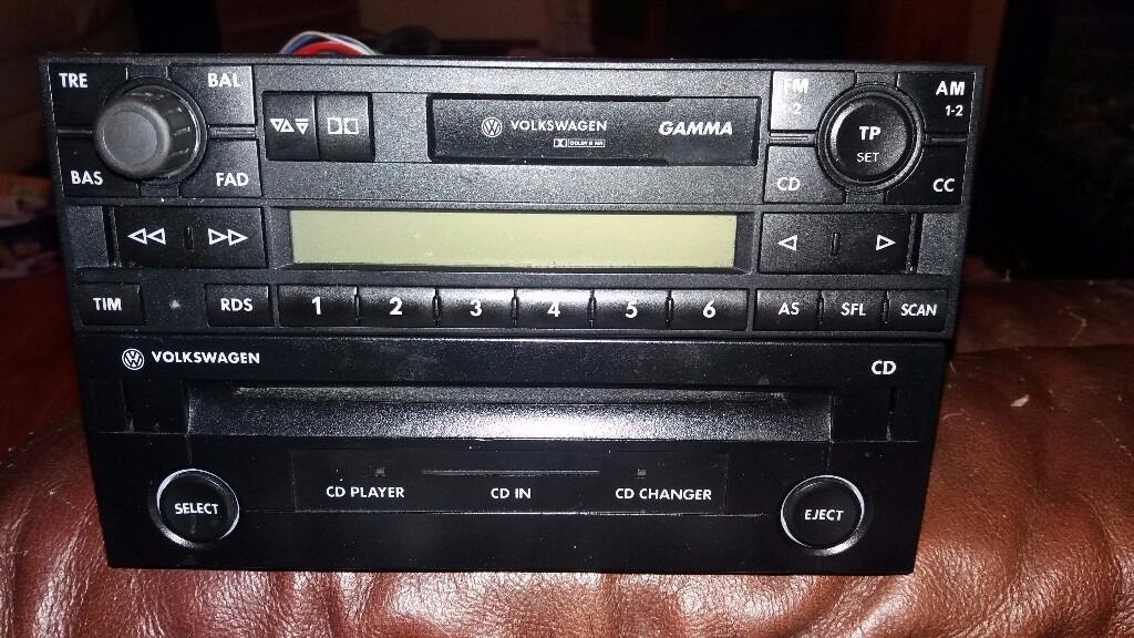 mint condition fully working vw gamma radio cassette. Black Bedroom Furniture Sets. Home Design Ideas