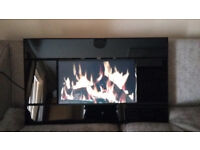 Wall Mounted Electric Fire, with various effect. Log,Coal,fishtank,River Scene etc. Remote ControlF