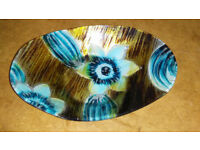 Pretty blue & brown/gold bowl from Spain
