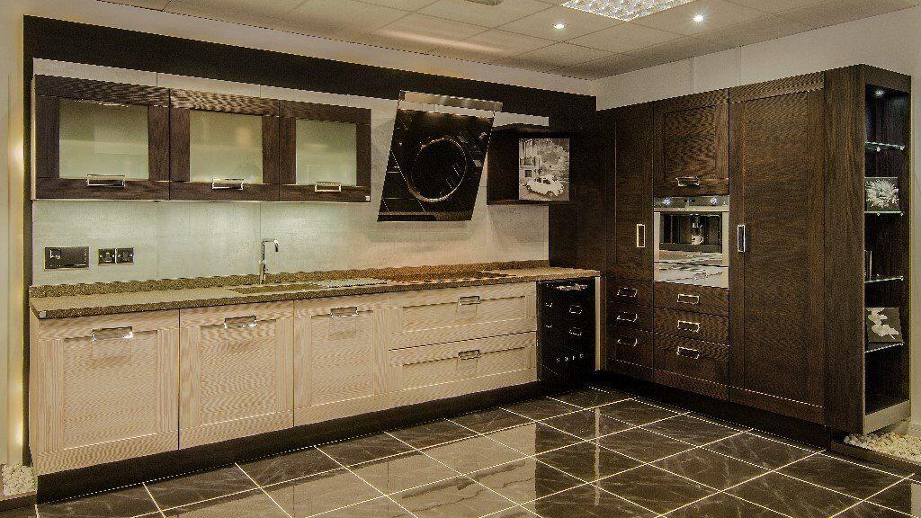 ex display italian design kitchen for sale arrital two tone timber doors