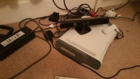 Xbox 360 2 controllers, Kinect Sensor, network adopter