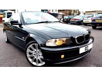 BMW 3 SERIES 318 PETROL CONVERTIBLE, EXCELLENT CONDITION, PART EXCHANGE WELCOME