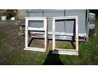 2 WOOD WINDOW FRAMES USED AND NEED REPAINTING