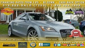 2010 Audi TT TT-$152W- Premium-Alloys- Leather- Spoiler- Blueto
