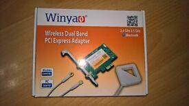 Dual Band WiFi + Bluetooth 4.2 Pci-e Card