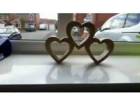 Wooden hearts ornament