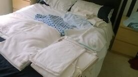 2 complete cot bed sets and blankets ideal for twins