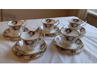 LOVELY VINTAGE TEA/COFFEE SETS, DUOs and TRIOs - JOB LOT
