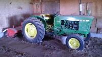 John Deere 2010 tractor with 3 point hitch and attachments