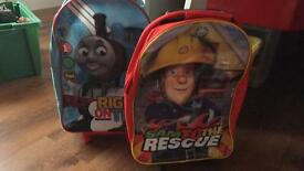 2 pull along cases Thomas and Fireman sam