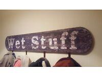 """Retro """"wet stuff"""" coat rail"""