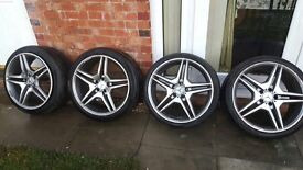"""Genuine 19"""" Mercedes AMG Alloys And Tyres."""