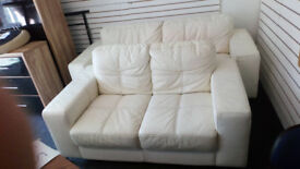BEAUTIFUL WHITE 3 SEATER AND 2 SEATER SOFAS ULTIMATE COMFORT AND MODERN DESIGN VIEWING WELCOME