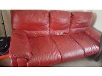 3 x 3seater leather sofa