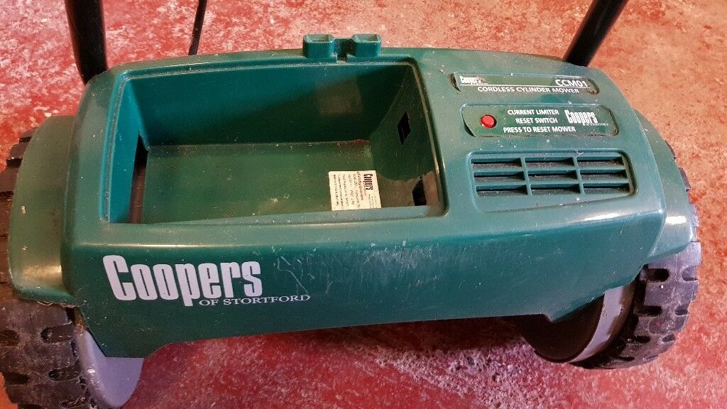 Coopers electric lawnmower