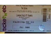 2x The Zutons, Liverpool Guild of Students, Tickets for 30th September 2016