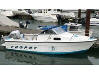 Bayliner Trophy 1802 wa fast fisher speed boat with Honda 90hp Vtec outboard
