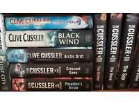 Clive Cussler books £3 per book