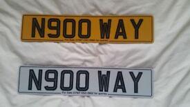 N900 WAY Private number plate