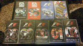F1 season review vhs tapes 94-02