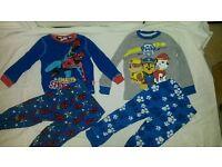 Aged 2-3 pyjamas spiderman&paw patrol