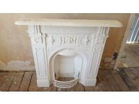 Beautiful cast iron fireplace from 1930s house