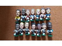 Corinthians Ministars football figures joblot - Newcastle, England, Blackburn, Everton, Arsenal etc.
