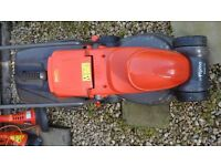 Flymo Easimo electric mower for spares or repair and 2 Flymo mini strimmers