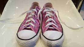 Pink sparkle All Star Converse