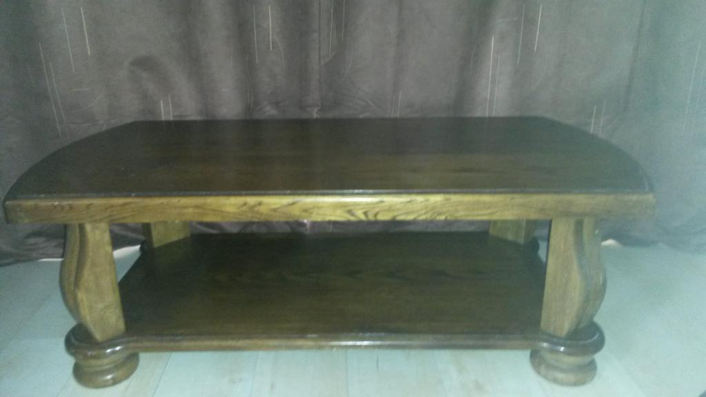 Coffee table solid oak reduced price in chafford for Coffee tables gumtree