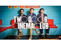 2X Two Door Cinema Club Concert Tickets - Alexandra Palace, London on FRIDAY 10/02/2017 at 19.00