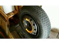Ford KA space saver tyre and jack. Also fits fiat and others
