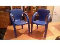 X2 plastic chairs