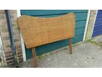 Marks and Spencers Double Bed Rattan Headboard