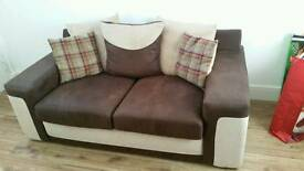 2 seater and 1 seater sofa +BRAND NEW Sofa Cleaning Kit