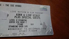 KORN & LIMP BIZKIT ticket Glasgow show