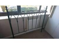 Vintage iron double bed frame black
