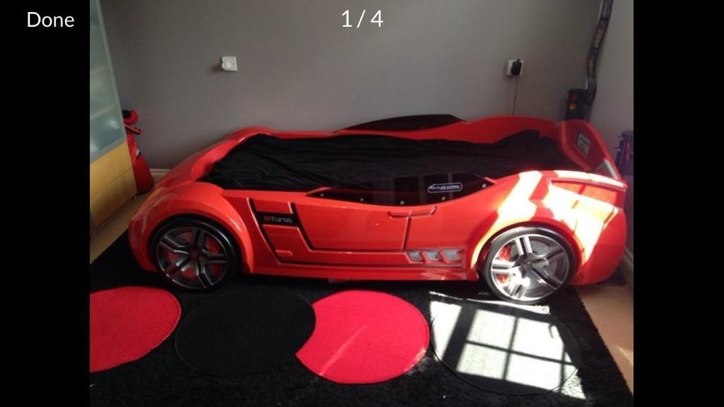 Single car bed with mattress