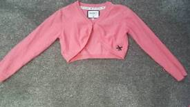 Gorgeous coral pink bolero jacket Junior J age 5 to 6