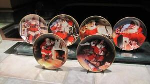 6 Franklin Mint 1993 &1994 Coca-Cola Christmas Plates REDUCED