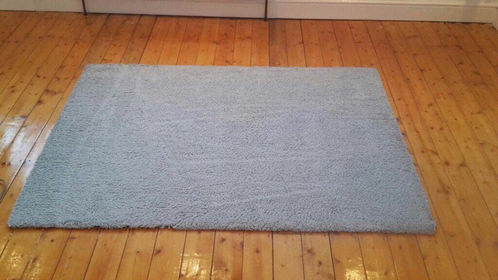 Dunelm teddy bear rug duck egg blue in croydon london for Ikea bear rug