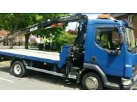 Hiab crane hire 7.5 ton