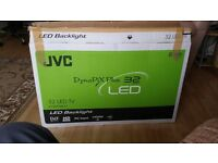 JVC 32 inch LED Backlight SMART TV with remote and box.
