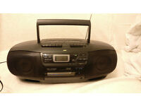 JVC RC-X740 CD Twin Tape Portable Boom Box with Remote